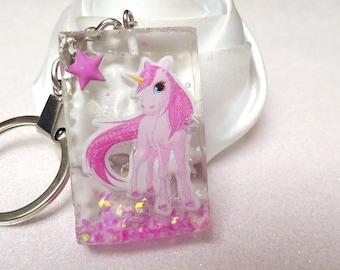 key glitter cute Unicorn in its setting