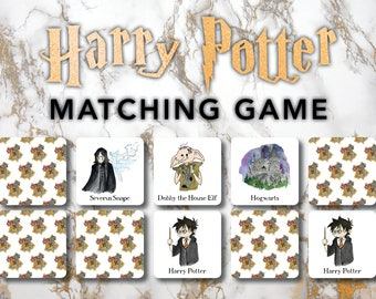 Harry Potter Matching Game | Physical Set | Harry Potter Gift | Harry Potter Kid | Educational Game | Harry Potter Family | Kid Game |
