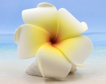 Hair Flowers, Plumeria Hair Clip, Yellow Flower,  Hawaiian Hair Clips, Wedding Hair Clips