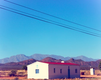South Africa Landscape Photography, Landscape Print Art, Church Wall Art