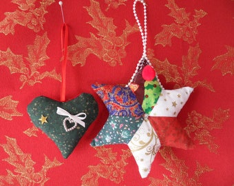 Star and heart of Christmas
