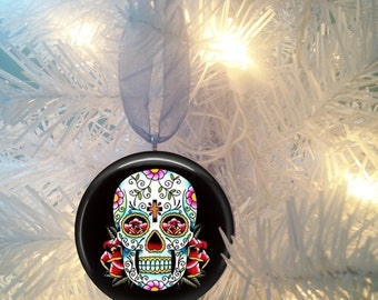 Sugar Skulls #4 Day of the Dead  Christmas Tree Ornament