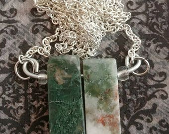 Natural Agate Duo Necklace