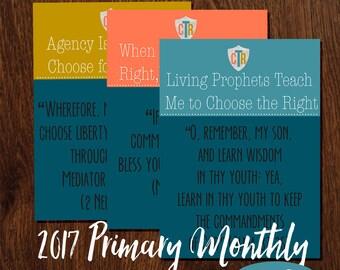 2017 Primary Monthly Theme 16x20