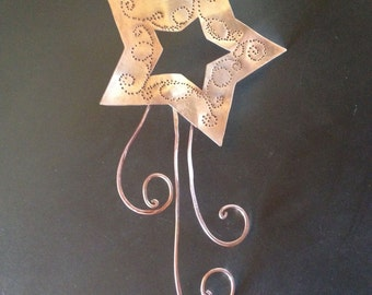 Copper Shooting Star Tree Topper