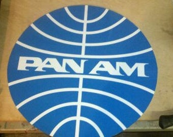 Pan am metal sign 20 inch round