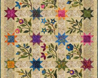 Spring Sprouts Quilt Pattern by Edyta Sitar - Laundry Basket Quilts - LBQ-0325 - Applique Quilt Pattern