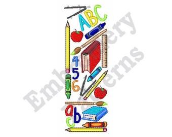 School Days - Machine Embroidery Design