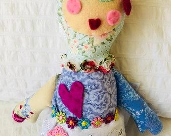Handmade Doll Beautiful One Of A Kind Doll, Doll Softie DOLL1140