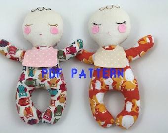 PDF PATTERN -Baby Doll PDF pattern, Baby Doll sewing pattern, Instant download pattern