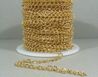 5.6mm Curb Chain - Gold Plated - CH6 - Choose Your Length