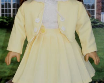 American Girl Style Suit in YELLOW