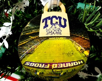 TCU Horned Frogs Christmas Ornament / gift tag
