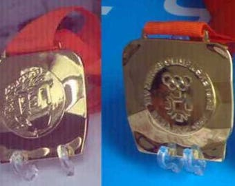 1984 Sarajevo Olympic 'Gold' Medal  with Ribbons  !!!