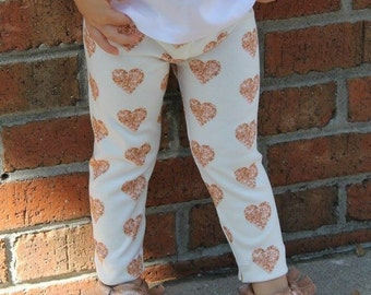 Rose Gold Heart Leggings