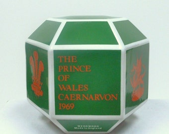 Wedgwood, Prince Charles Investiture, Vintage Green Coin Bank