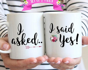 Engagement Gifts for Couple, Engagement Gifts for Best Friend, Engagement Mugs, Engagement Mug Set, Engagement Mug, Couple Mugs