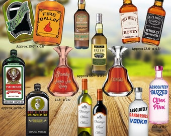 2018 Aged To Perfection Alcohol Bottle Props