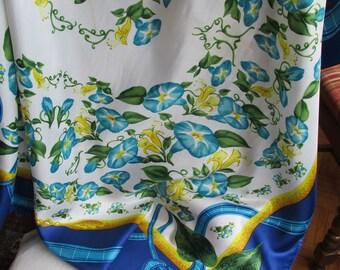 Scarf - Godiva - Floral Scarf - Vintage