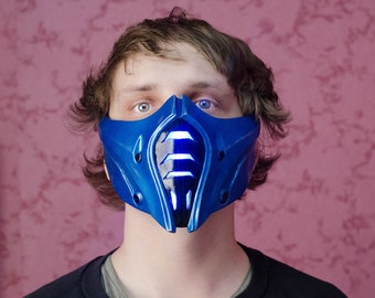 Mask Sub-zero Injustice 2 for Cosplay   Mortal kombat   Color LEDs   Different sizes   Different color