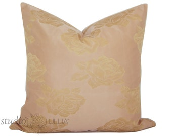 Dusty Rose Damask Pillow Cover - 20 inch pillow - Shabby Chic - vintage - silk damask - Baby Shower - romantic - ready to ship
