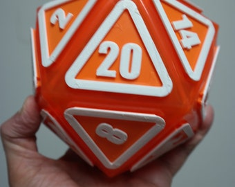 "Giant D20 Twenty-Sider 6.5"": Orange Whip"