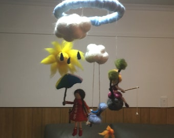 Needle Felted Doll Mobile