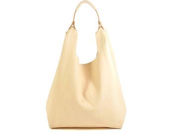 Bonnie - Handmade Natural Vegetable Tanned Leather Shopper Carrier Bag SS18
