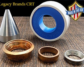 """Coin Ring Tools: Folding Cone, Stainless Steel, 1/4"""" inch to 3/4"""" inch Hole Sizes Folding Range"""