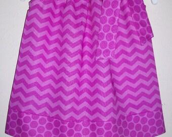 Pillowcase Dress Summer Dresses Chevron Dress Raspberry Girls Dresses Sister Dresses Coordinating Dresses Baby Dresses Toddler Dresses