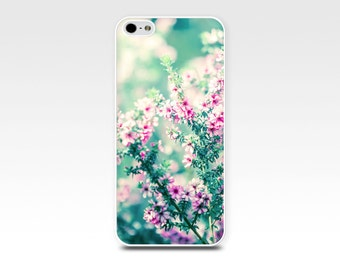 floral iphone case 5s iphone 6 case iphone 4s botanical iphone case 4 nature flower iphone case iphone 5 case photography pink teal pastel