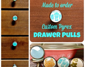 Set of 30.  MADE TO ORDER!!! Pyrex Drawer Pulls.  Cabinet Hardware.  Close door pulls.  Can use on a piece of wood as coat hooks.