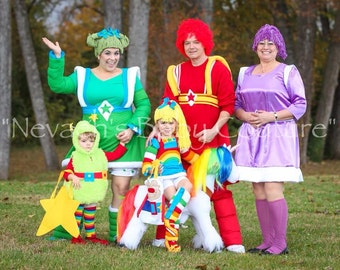 Rainbow Brite Adult Size Cosplay Costume  sc 1 st  Etsy : toddler rainbow brite costume  - Germanpascual.Com