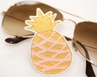 Pineapple Patch - Iron-On - Aprikot/Gold