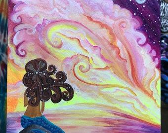 Galaxy Mermaid Painting
