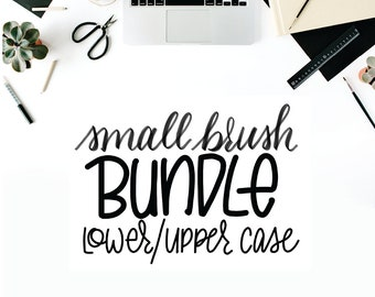 MODERN BRUSH SCRIPT, Small Brush, Bundle, Upper & Lower Case, Practice Sheets, Printable, Downloadable, Hand-Lettering, Handwriting