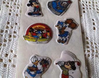 Vintage DISNEY Puffy Glitter Stickers