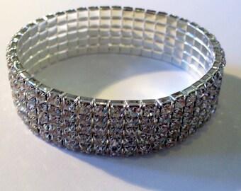 1 Crystal bracelet 18cm elastic