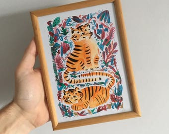 Two Tigers (Framed)