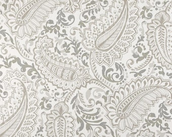 Two 26 x 26 Custom  Designer DecorativeEuro  Pillow Covers- Large Paisley Ecru