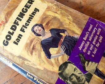 Goldfinger / James Bond / Mother's Day / vintage spy book / Ian Fleming paperback best seller
