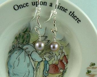 Blush Pearl Sterling Silver Earrings