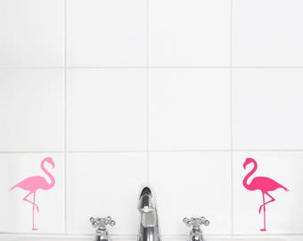 Wall Sticker Pink Flamingos