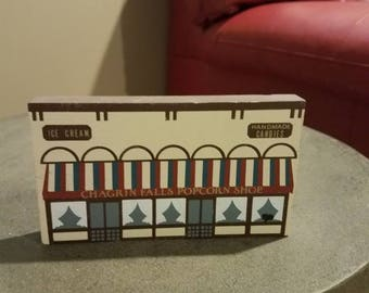 Vintage Signed Cats' Meow Wood Houses