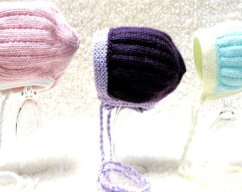 Knitting Pattern - Sand Dollar Baby Bonnet - PDF- 3 sizes - Permission to Sell Hats