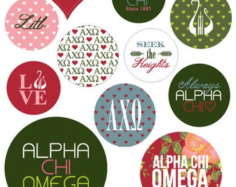 Alpha Chi Omega Stickers