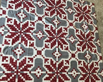 Quilt Top : Christmas Snowflakes