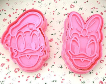 Donald and Daisy Duck Cookie Cutter Mold Set - 2 pc set - Mickey Mouse Clubhouse