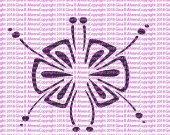 G.Ahrens Design Stencils!!! Blooming Lotus