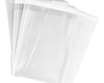 200 Cello Bags, Clear Resealable Bag, Cello Sleeves, Resealable Bags, Polypropylene Bag, Cellophane bag, Bakery Cookie Candy Wedding treat